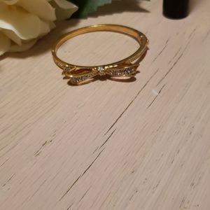Goldtone crystal encrusted bracelet